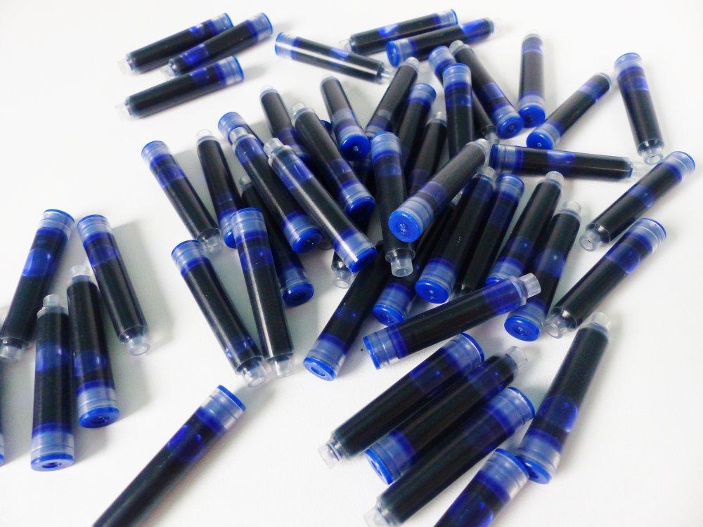 50 cartouche encre bleue pour stylo plume