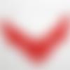 Collier en coton rouge et en acier inoxydable