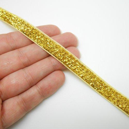 Ruban doré à paillettes, ruban cadeau