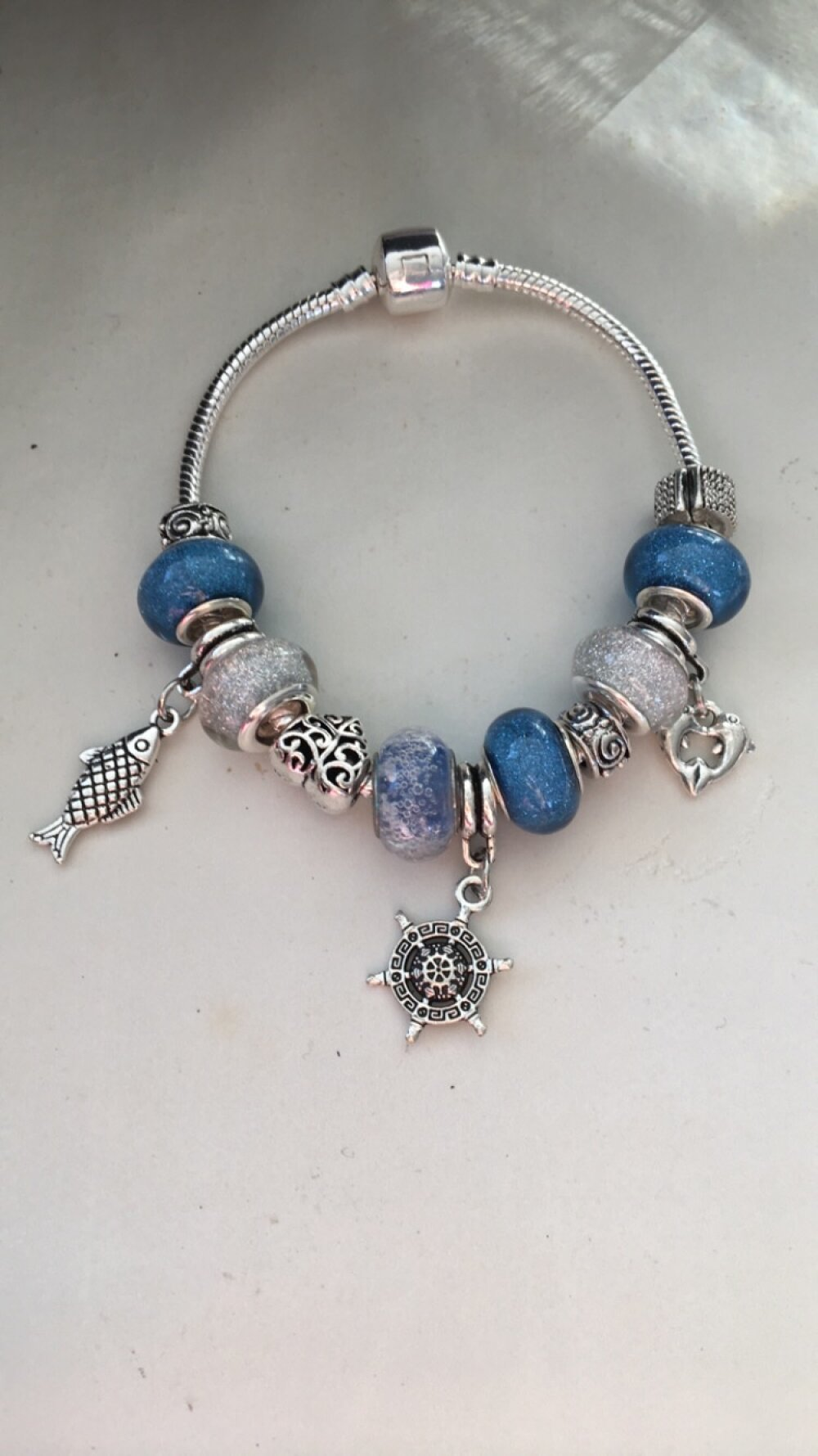 bijoux pandora bleu