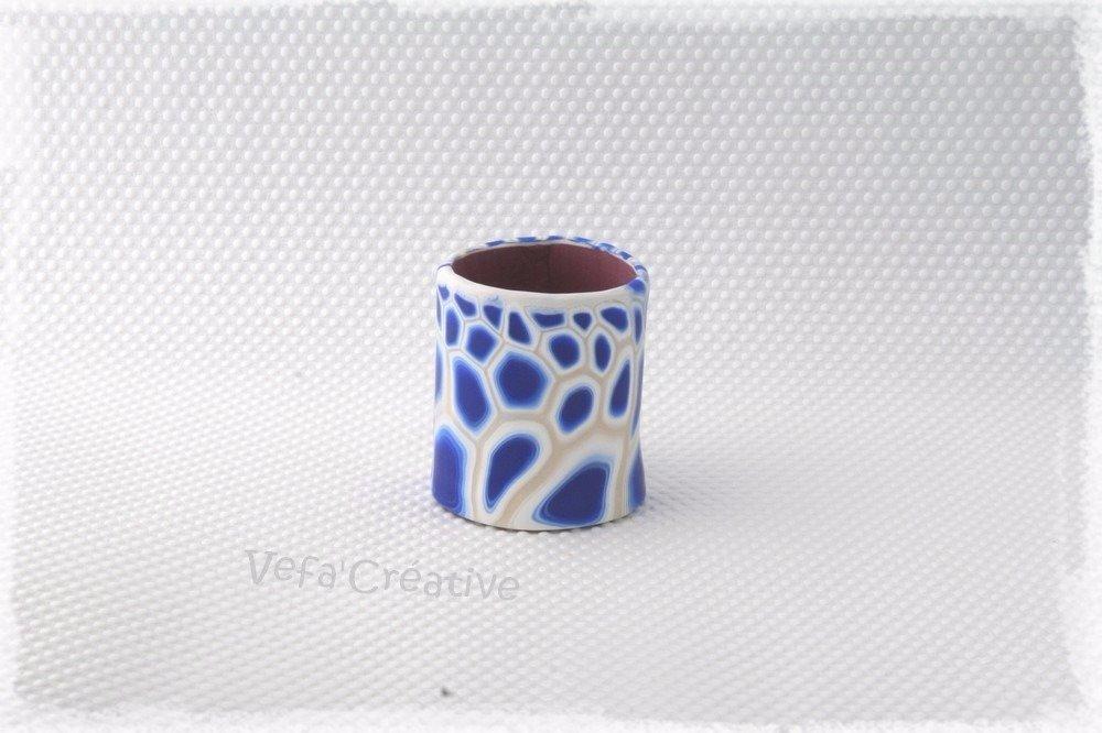 Vagues Bleues - pot à crayons