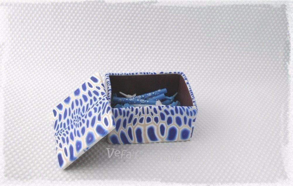 Vagues bleues - boite à bijoux rectangulaire