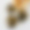 Perle toupie orientale en résine façon vieil or décoré