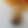 Cabochon en jaspe marbré marron, couleur sable beige, 25 mm