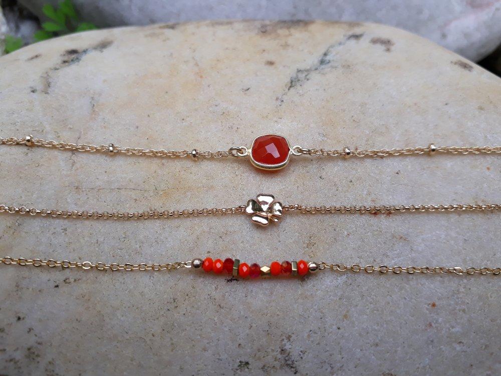 Bracelets femme pierre naturelle Cornaline