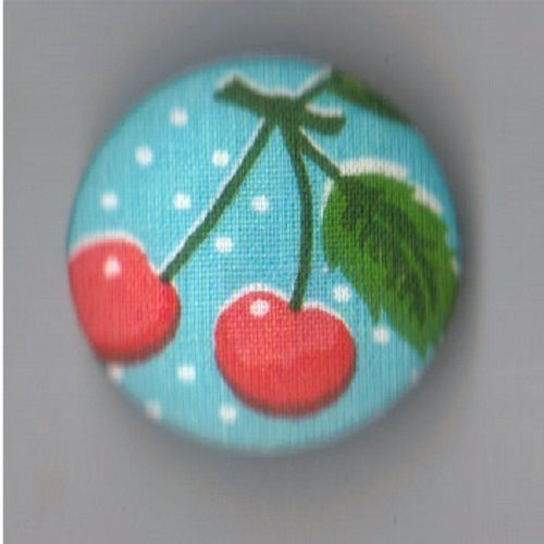1 bouton recouvert  de tissu******* 32mm