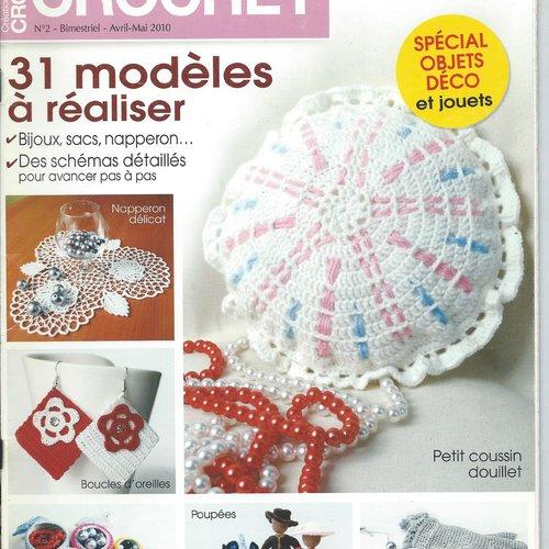 Catalogue crochet creations faciles n°2 bijoux poupee sac boite gilet