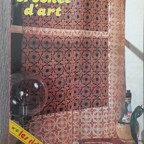 Catalogue le crochet d'art n°93 1981 les rideaux tout le tricot ancien vintage