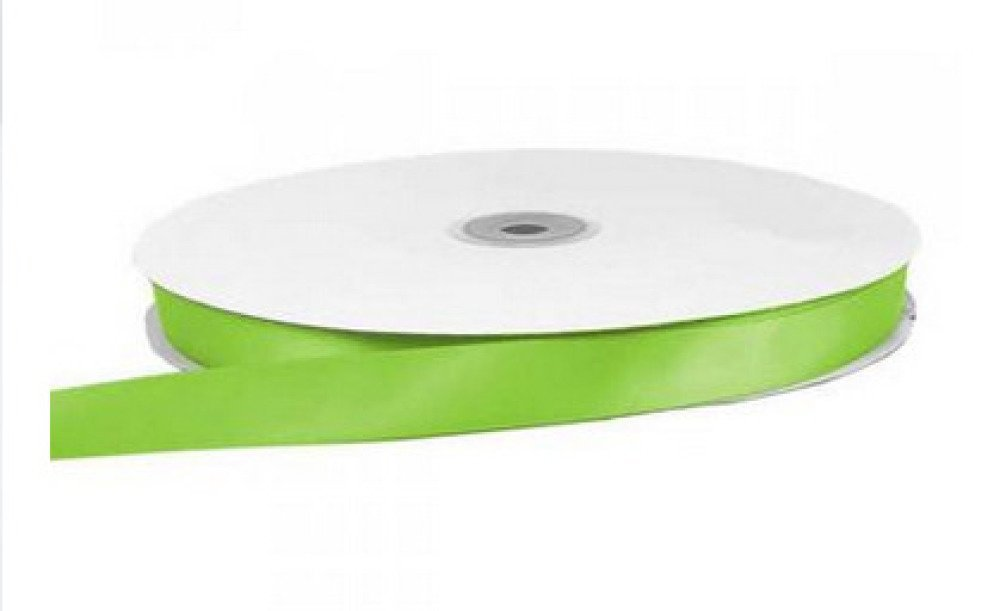 1,5 mètre de ruban satin largeur 10 mm vert lime - polyester