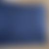 Coton bleu foncé rayures blanches