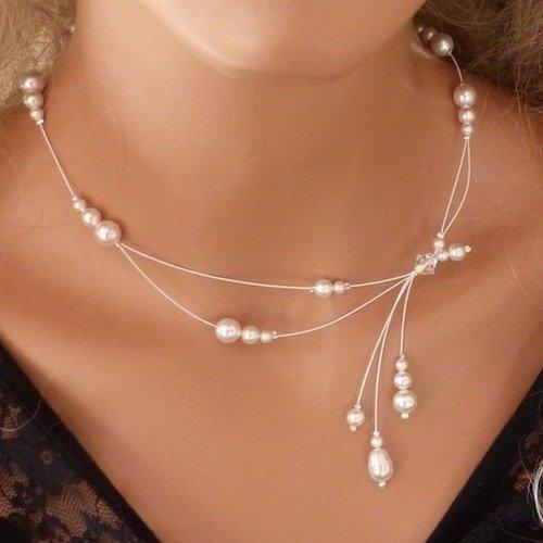 bijoux collier fantaisie mariage