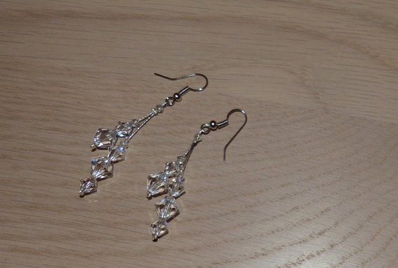 Boucles d'oreilles fantaisie, boucles d'oreilles mariage, cérémonies, sorties, BO Swarovski