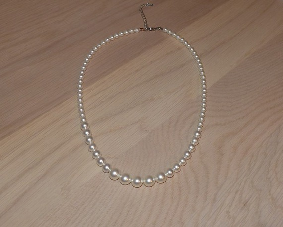 Collier mariage, collier blanc, collier cérémonie, soirée, collier pas cher, collier raffiné , chic
