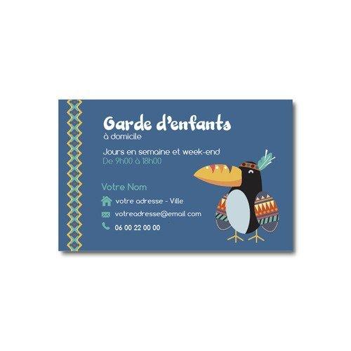 Carte De Visite Garde D Enfants Oiseau Toucan Indien Un