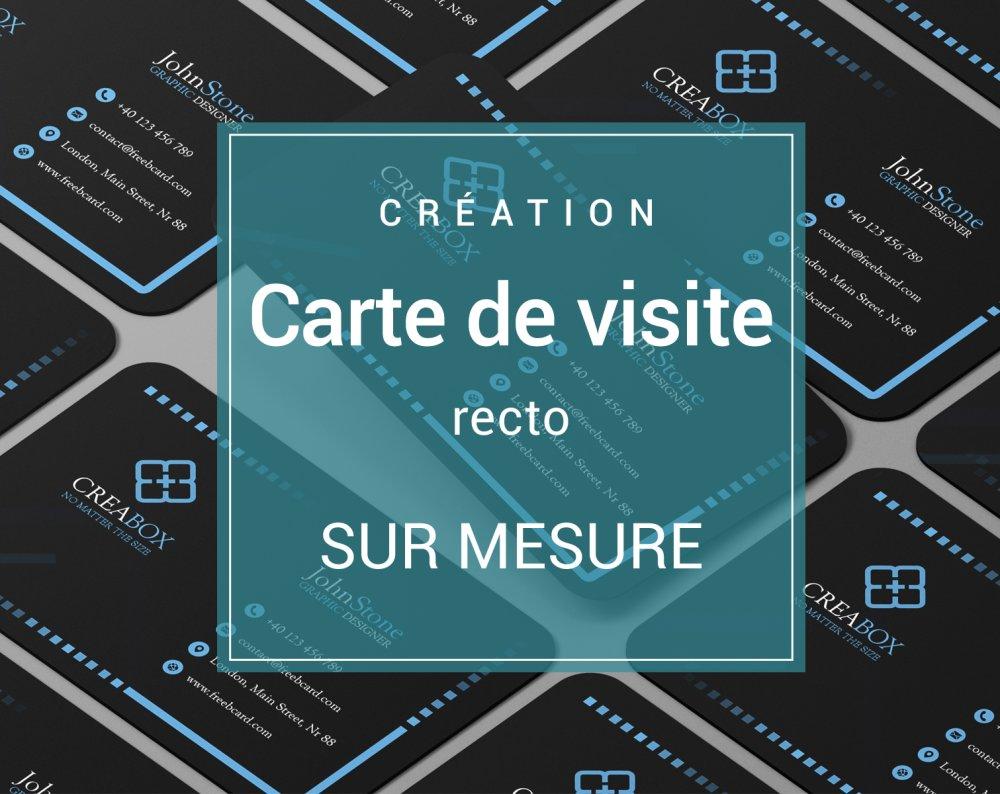 Carte de visite sur mesure recto, création graphique personnalisée pour votre entreprise ou votre boutique