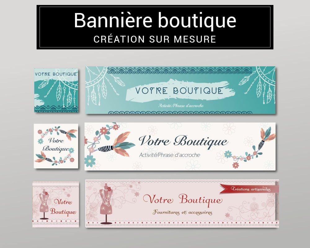 Création sur mesure de votre bannière web pour boutique, site ou réseaux sociaux