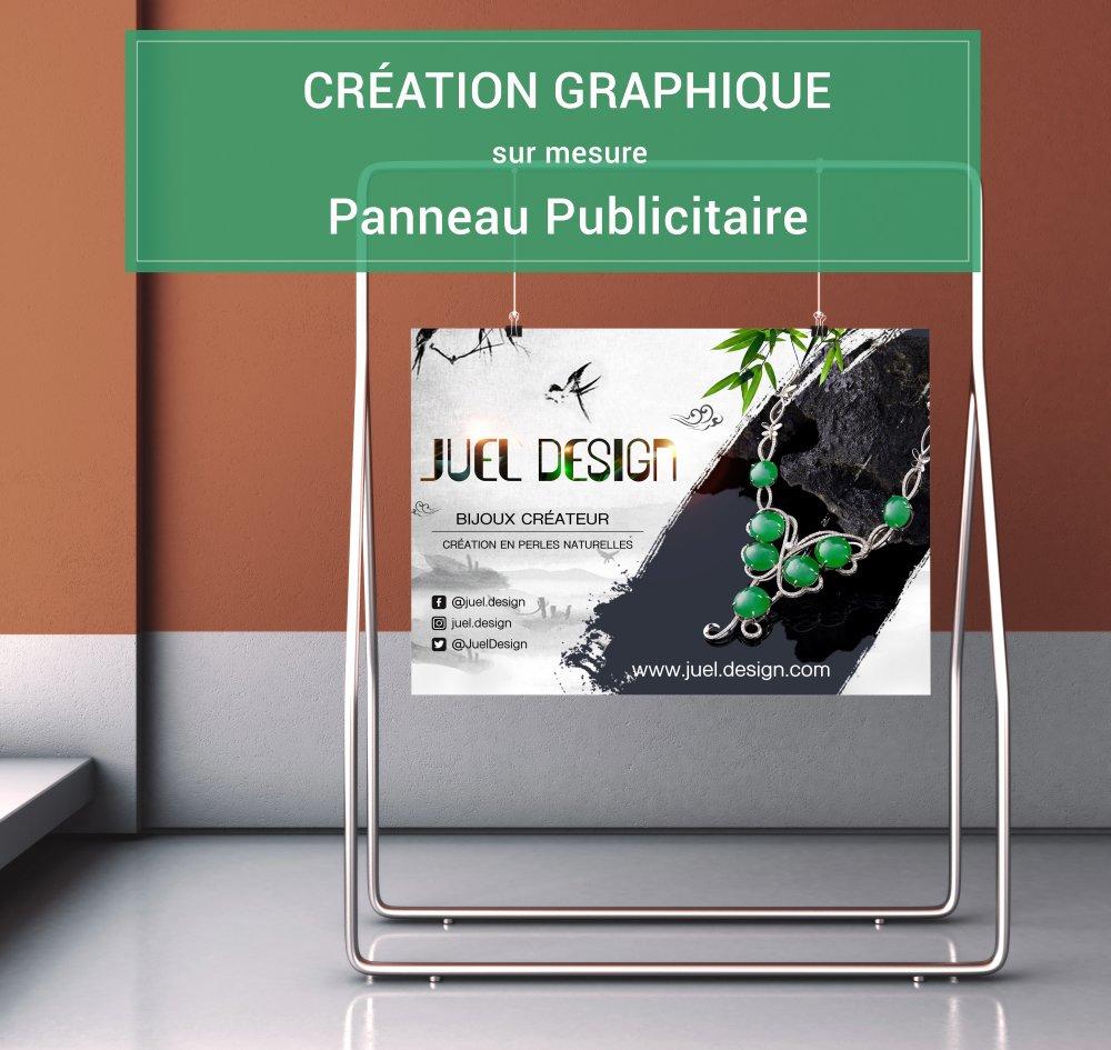 Création graphique de panneau sur mesure, fichier PDF prêt à imprimer