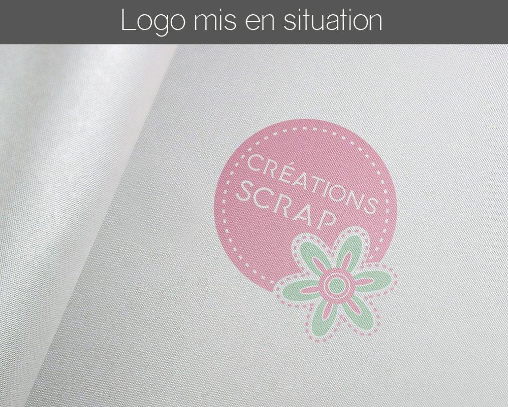 Logo design scarbooking créatif modèle unique pour l'identité visuelle de votre entreprise