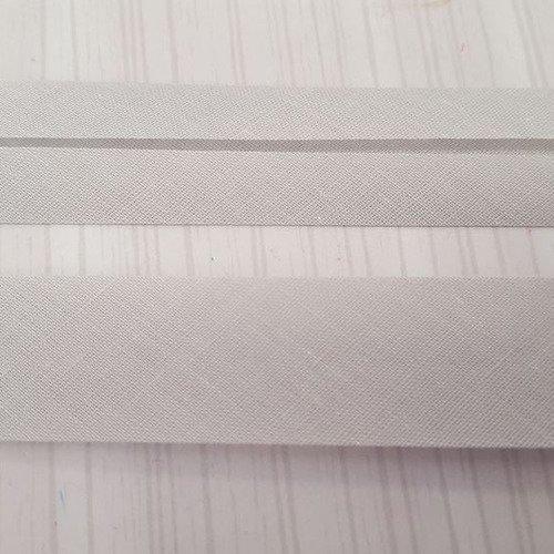 fillawant polyester et coton 2m biais gris foncé 20mm plié