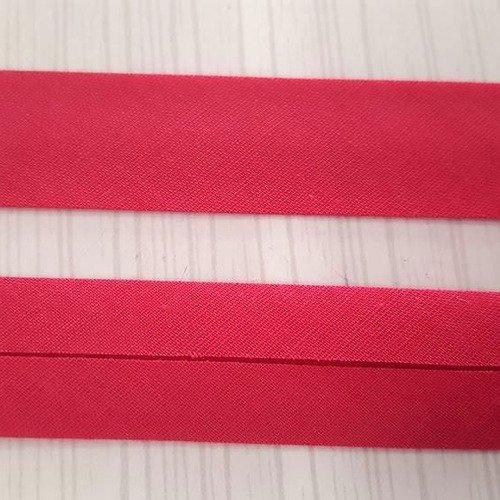 double pli/é 40//20 mm Biais en satin rouge