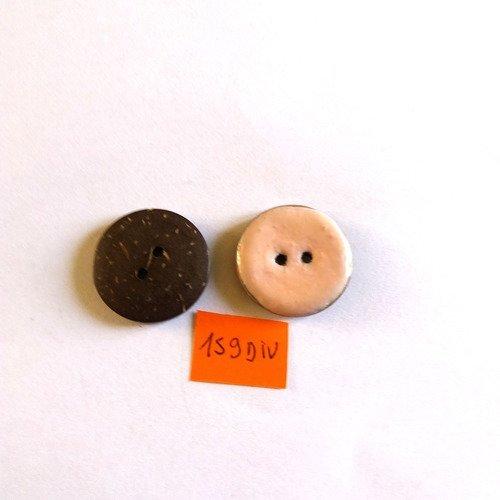 40 mm//64 L Rond de noix de coco-Bouton Rouge