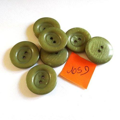 3913D 6 boutons en résin rose 22mm
