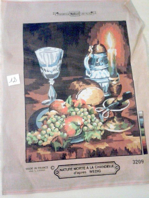 "1 canevas ""nature morte a la chandelle"" - MARGOT - Made in France - 50x60cm"