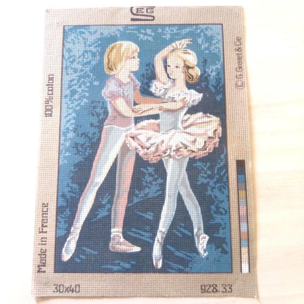 """1 canevas """"des danseurs"""" - SEG de Paris - 30x40cm"""