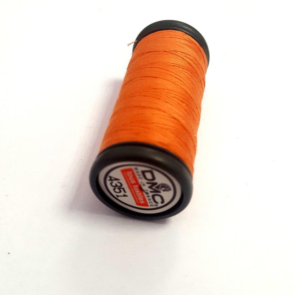 Fil a coudre tous textiles - corail foncé / orange 4351 - 100m - polyester - dmc - sachet 407