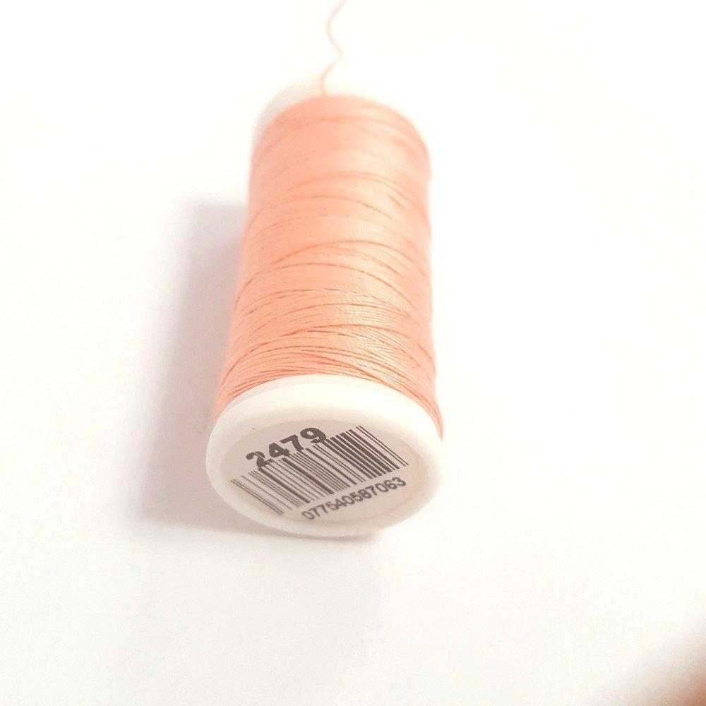 Fil De Peche Rose fil a coudre - rose peche 2479 - 100m - 100% coton - dmc - sachet 441