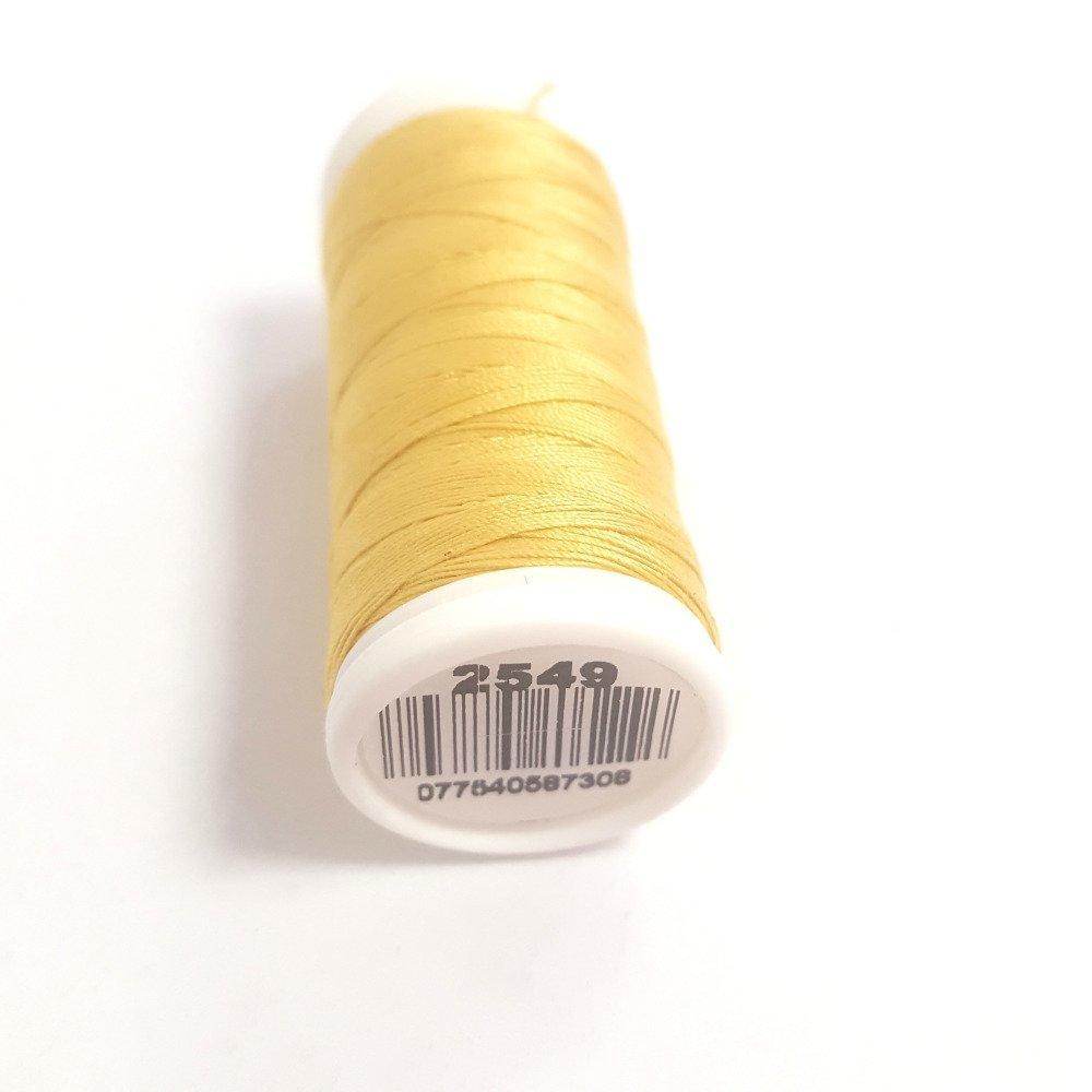 Fil a coudre - jaune blond 2549 - 100m - 100% coton - dmc - sachet 441