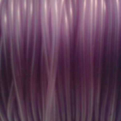 2m cordon caoutchouc violet clair -  ⌀ 2mm - interieur creux