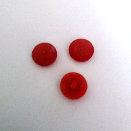 3 boutons en résine rouge - ancien - 18mm - 507mp