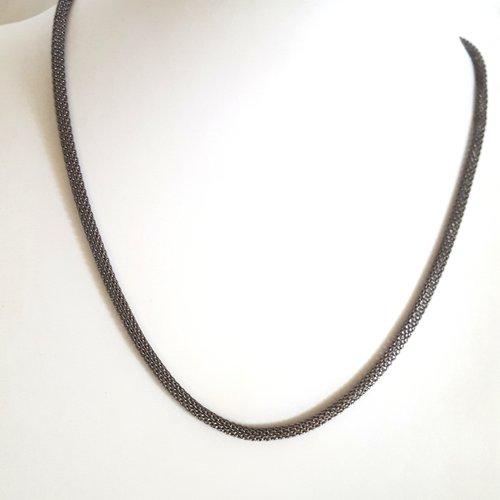 1 collier gunmétal en fer - 46cm - grosse maille