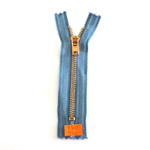 1 fermeture éclair spécial jean bleu - 11,5cm - non séparable - 730div