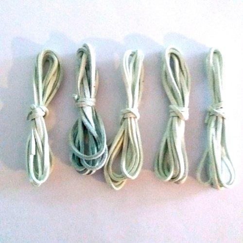5 x 1m de suédine vert d'eau - 3mm – 40