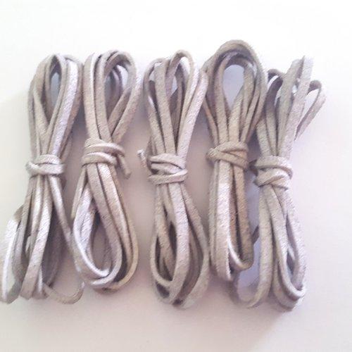 5 x 1m de suédine gris - 3mm – 41