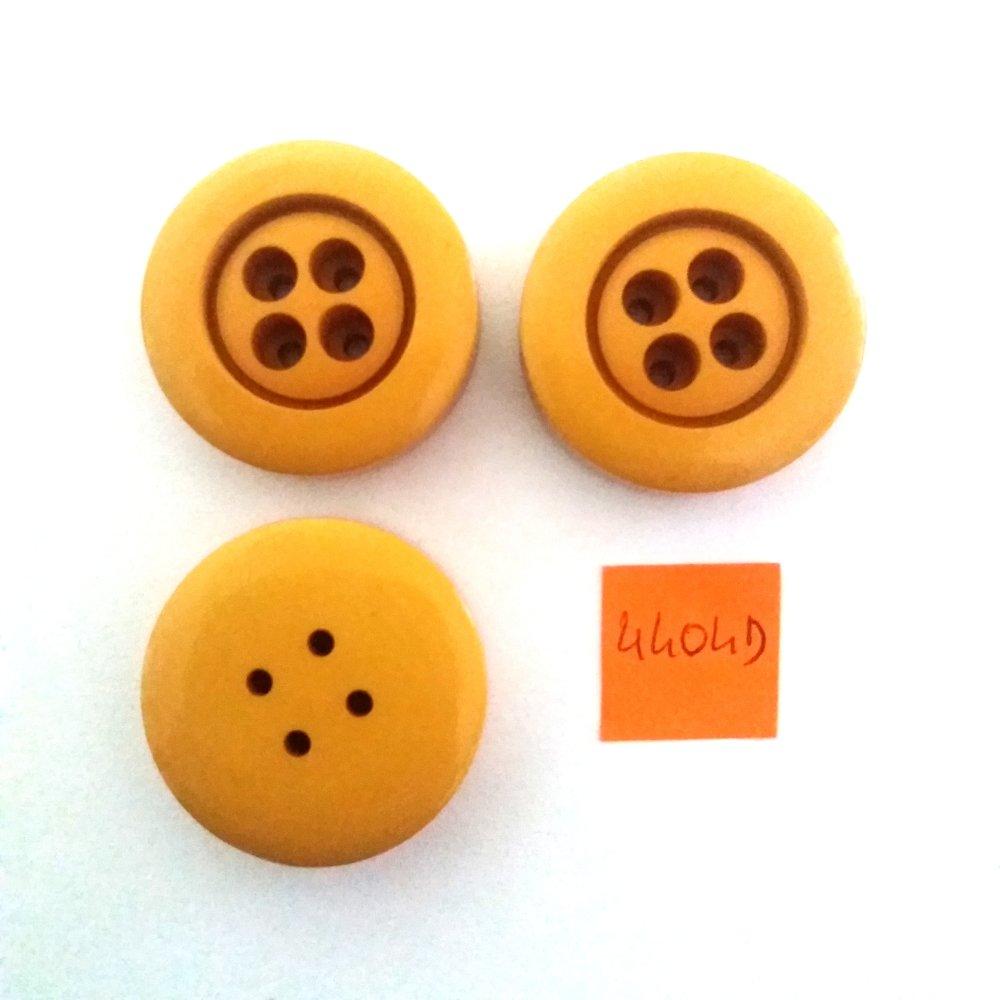 3 boutons résine rouge 30mm vintage 5128D