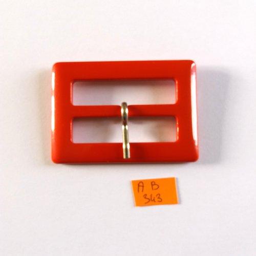 1 boucle de ceinture en résine rouge - 70x50mm - ab343