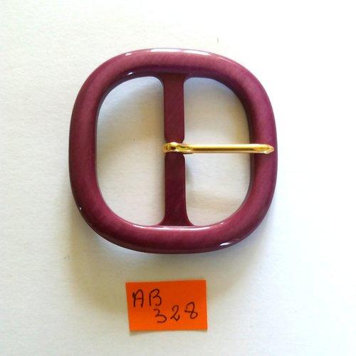 1 boucle de ceinture en résine violet - 55x55mm - ab328