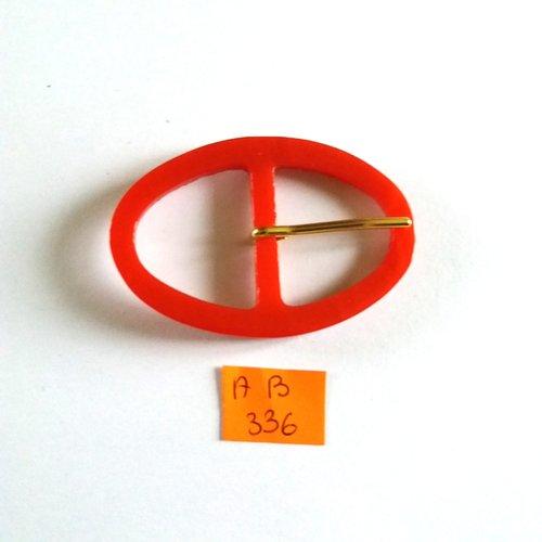 1 boucle de ceinture en résine rouge - 63x43mm - ab336