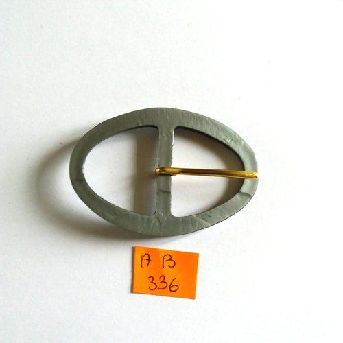 1 boucle de ceinture en résine gris - 61x41mm - ab336