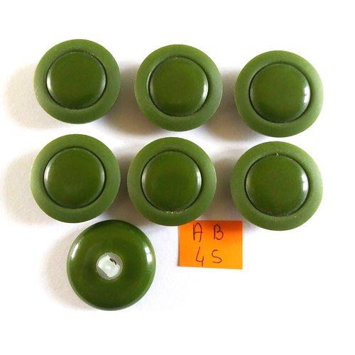 7 boutons en résine vert - 27mm - ab45