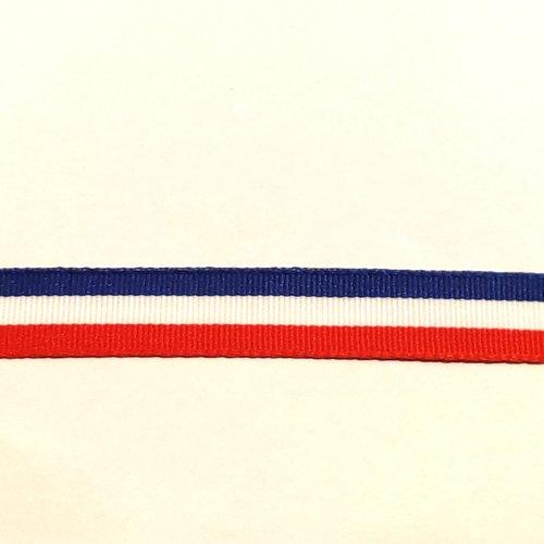 2 mètres ruban patriotique bleu blanc rouge 15mm 25mm 40mm