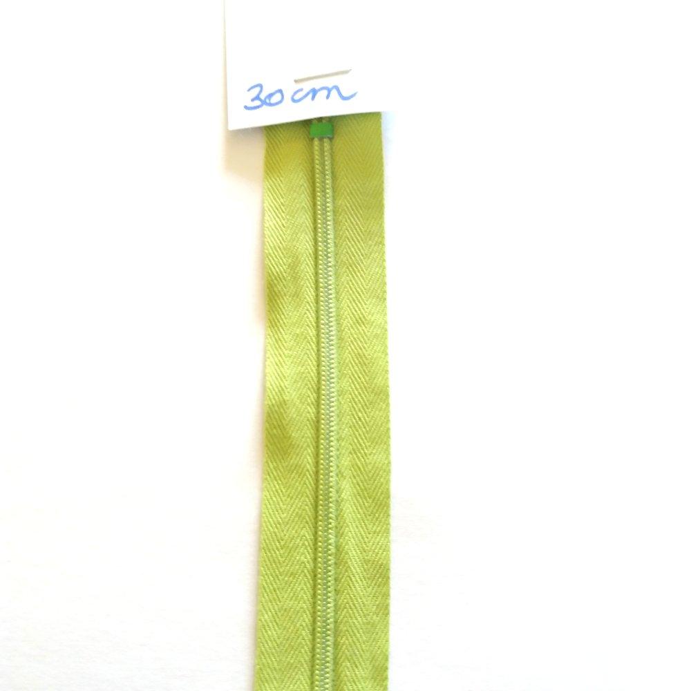 non séparable 1 fermeture éclair 30cm vert 706
