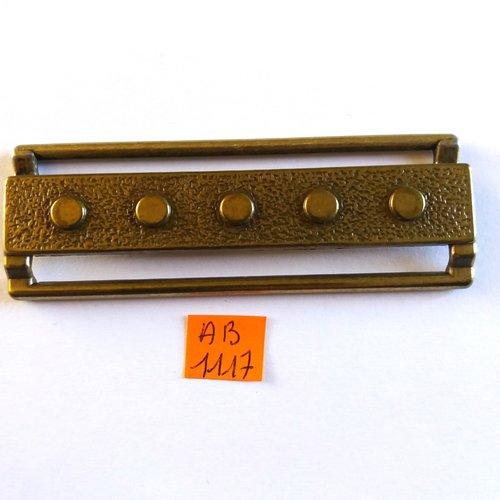 1 boucle de ceinture en métal doré vieillis - ancienne - 88x30mm - ab1117