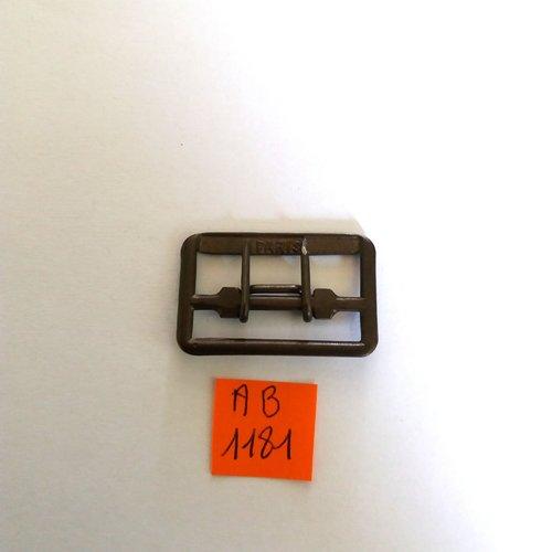1 boucle de ceinture en métal bronze - 33x21mm - ab1181