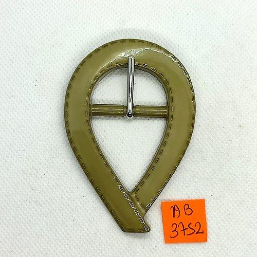 Boucle de ceinture en résine kaki - 78x53mm - ab3752