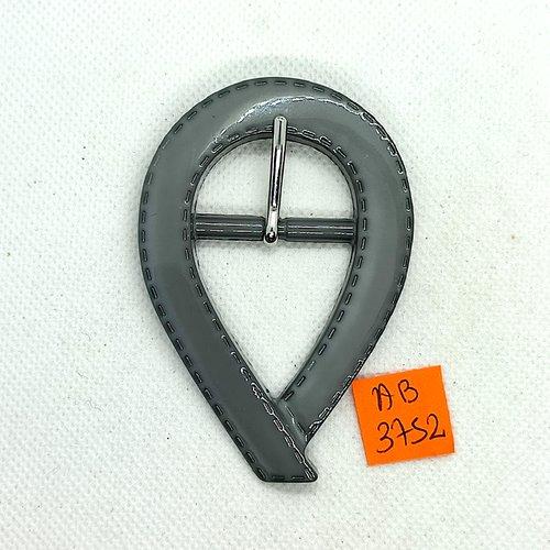 Boucle de ceinture en résine gris - 78x53mm - ab3752