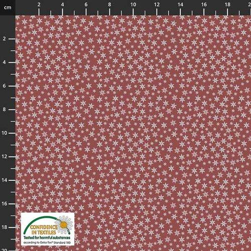 Tissu de noel - étoiles rouge - stof fabrics - coton - 10cm/laize